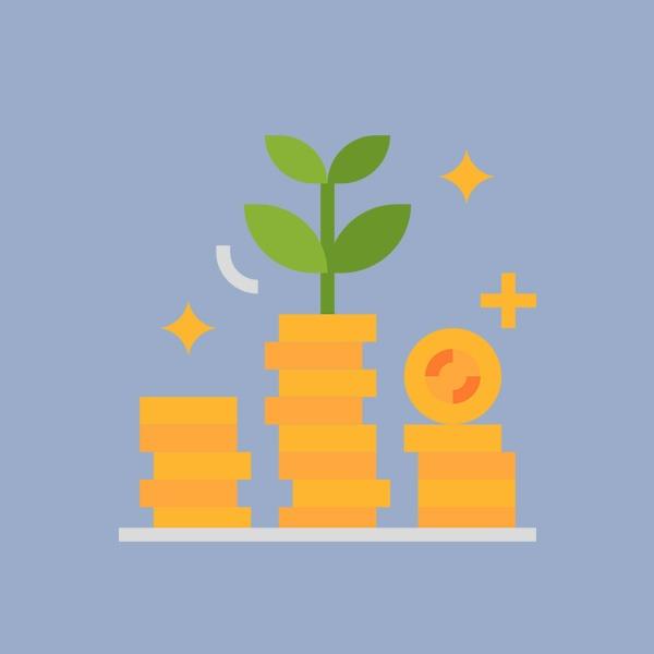 Durch Sparen mit dem 2-Konten-Modell baust du Vermögen auf.