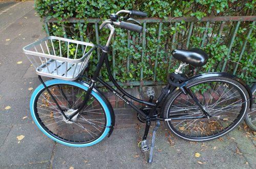 Swapfiets-Fahrrad Mit Blauem Reifen Im Test