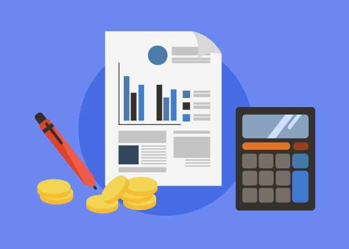 Taschenrechner und Stifte, um die Kapitalertragssteuer auszurechnen