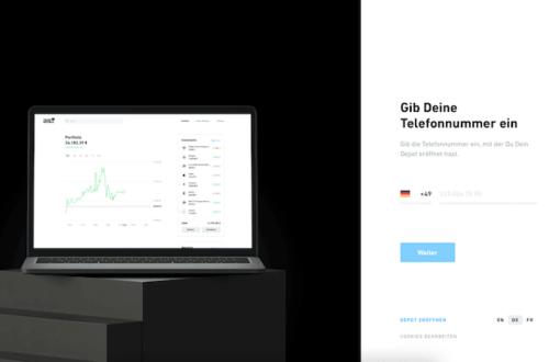 Trade Republic Desktopversion Login-Bereich